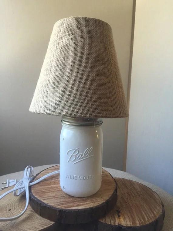 Mason Jar Lamp with Burlap Shade Mason Jar by