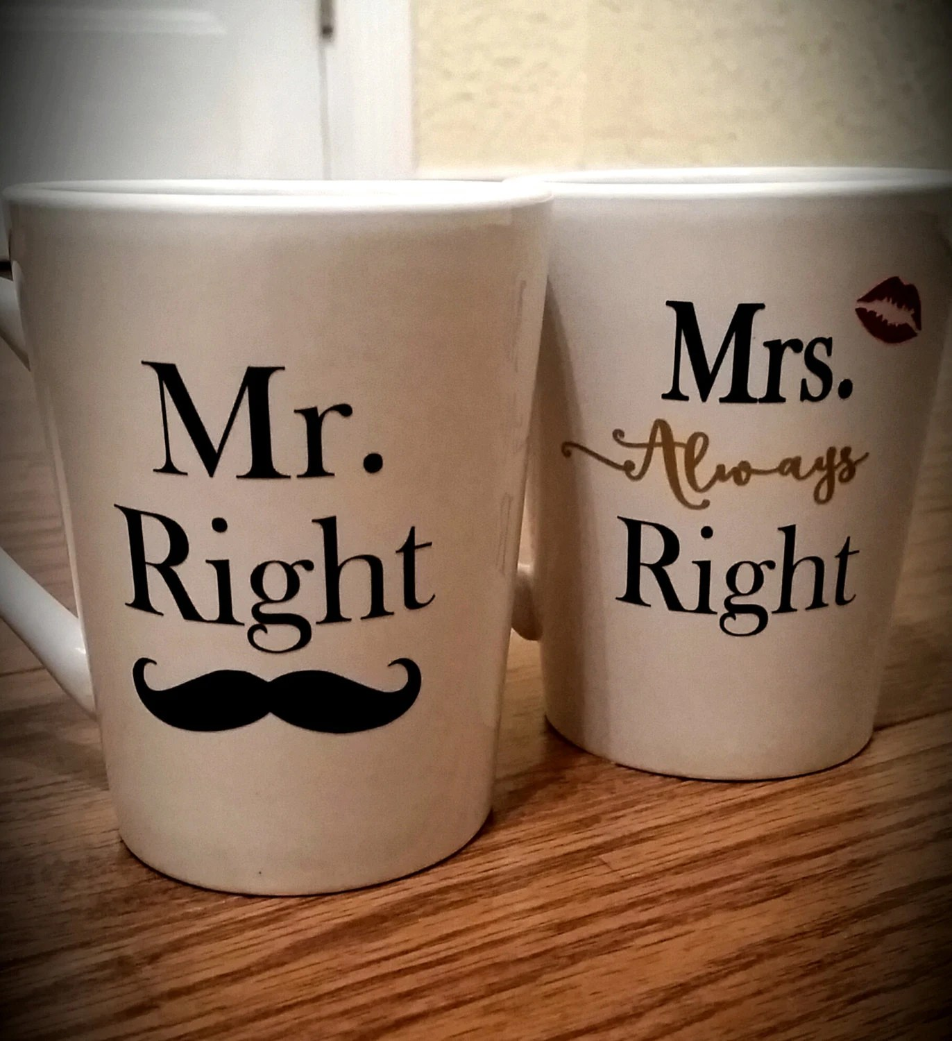 Mr Right Mrs Always Right Bettwäsche Mug Set Mr Right Mrs Always Right By Littlewhiskeyrose