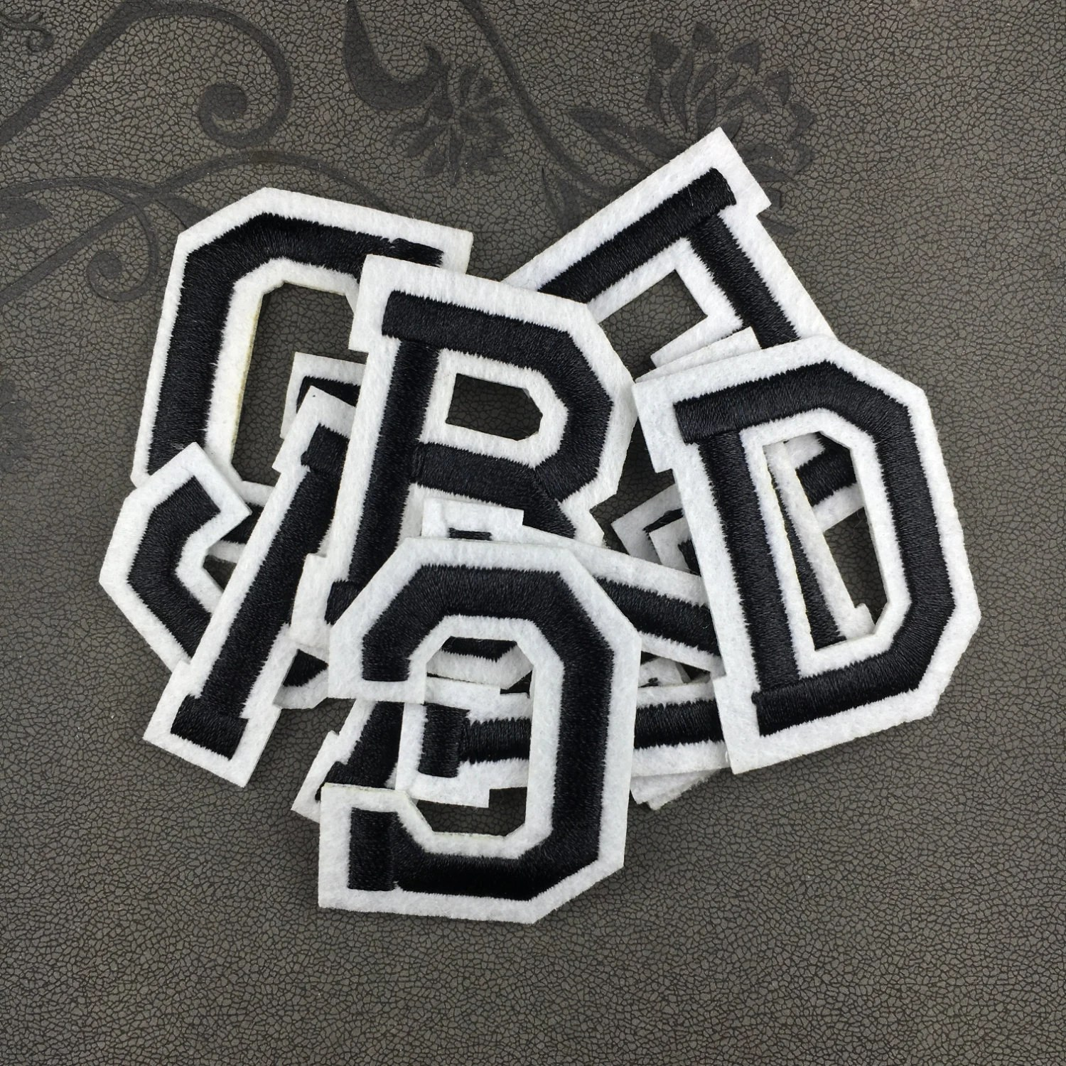 Iron On Black Letters Patch Iron On Letters Name Letters Patch