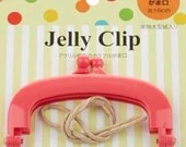 """Jelly Clip - Hot Pink - 4"""""""