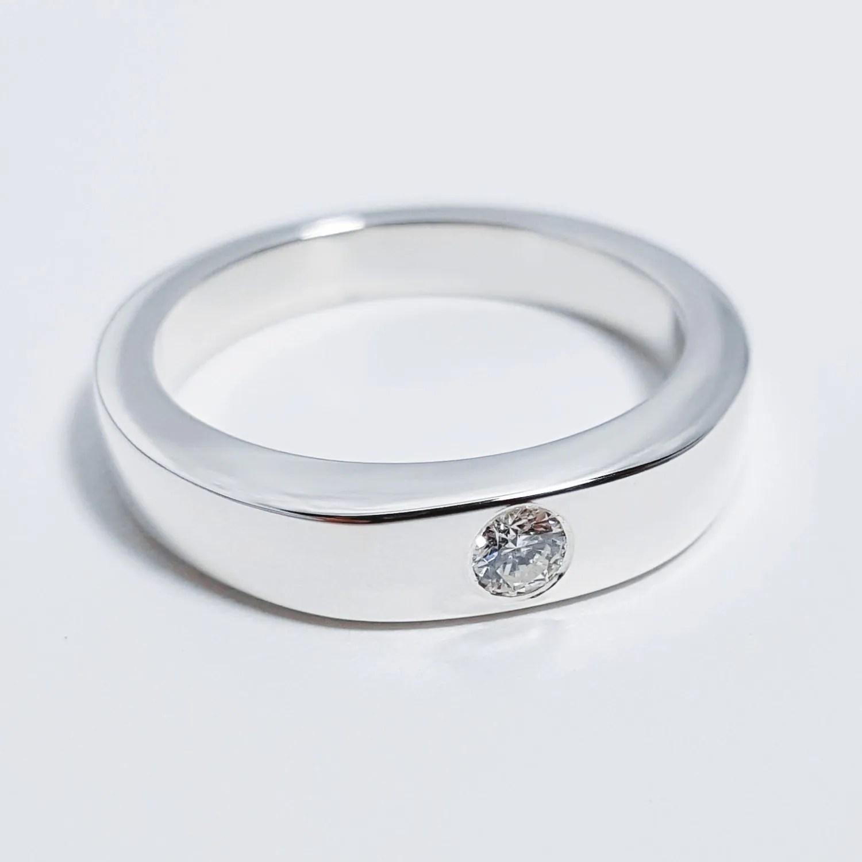 simple diamond band silver diamond wedding rings Sterling Silver Simple Diamond Ring Single Diamond Ring Band Sterling Silver Diamond Ring Diamond Wedding Band Sterling Diamond Band