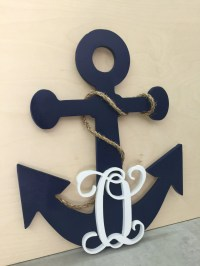 20 Inch Painted Wooden Anchor Personalized Monogram ...