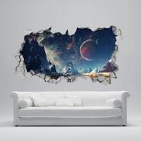 Space Broken Wall Decal 3d Wallpaper 3d wall decals 3d