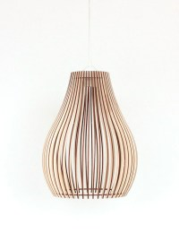 Wood Lamp / Wooden Lamp Shade / Hanging Lamp / Pendant Light