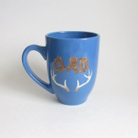 Blue Personalized Dad Coffee Mug Extra Large 16 oz Blue Cup