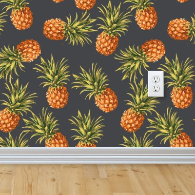 Pineapple Wallpaper Removable Wallpaper Self-adhesive
