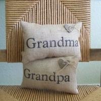 Grandma pillow Grandpa pillow mini pillow Grandparents