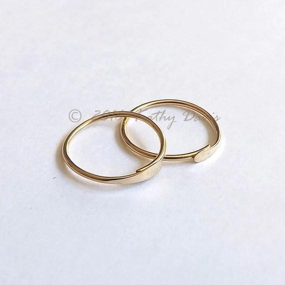 Gold Hoops Endless Hoop Earrings Small Sleeper Hoop gold