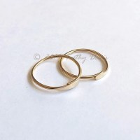 Gold Hoops Endless Hoop Earrings Small Sleeper Hoop gold