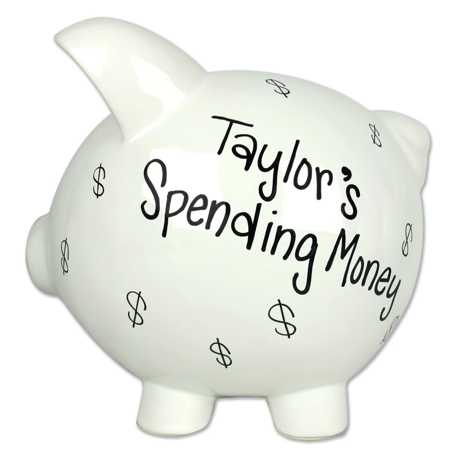 Piggy Bank Adult Any Fund Adult Piggy Bank Hand Painted Personalized By