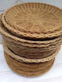Wicker Plate Holders Woven Wicker Paper Plate Holders