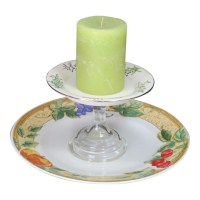 Tiered Cake Plate Candle Stand Cake Plate Cake Stand Fall