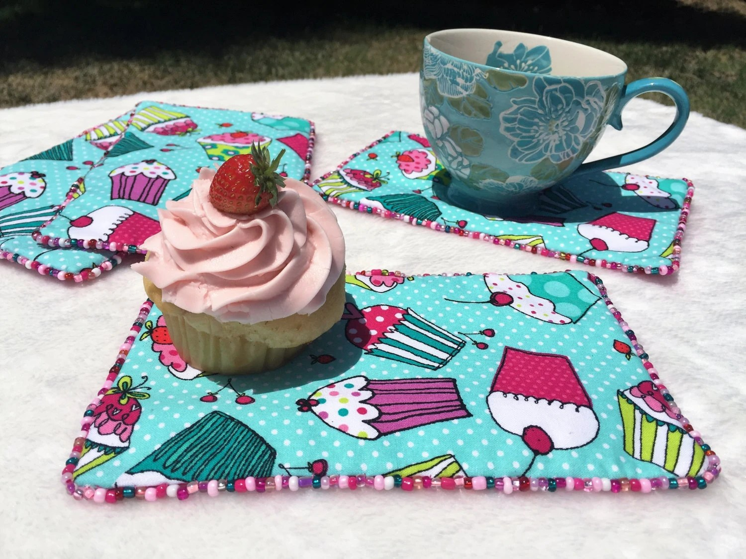 Cupcake Party Table Decor Cupcake Table Topper Snack Mat