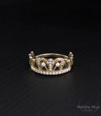 Crown women ring Gold crown ring Crown promise ring