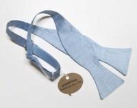 Powder blue bow tie   Etsy