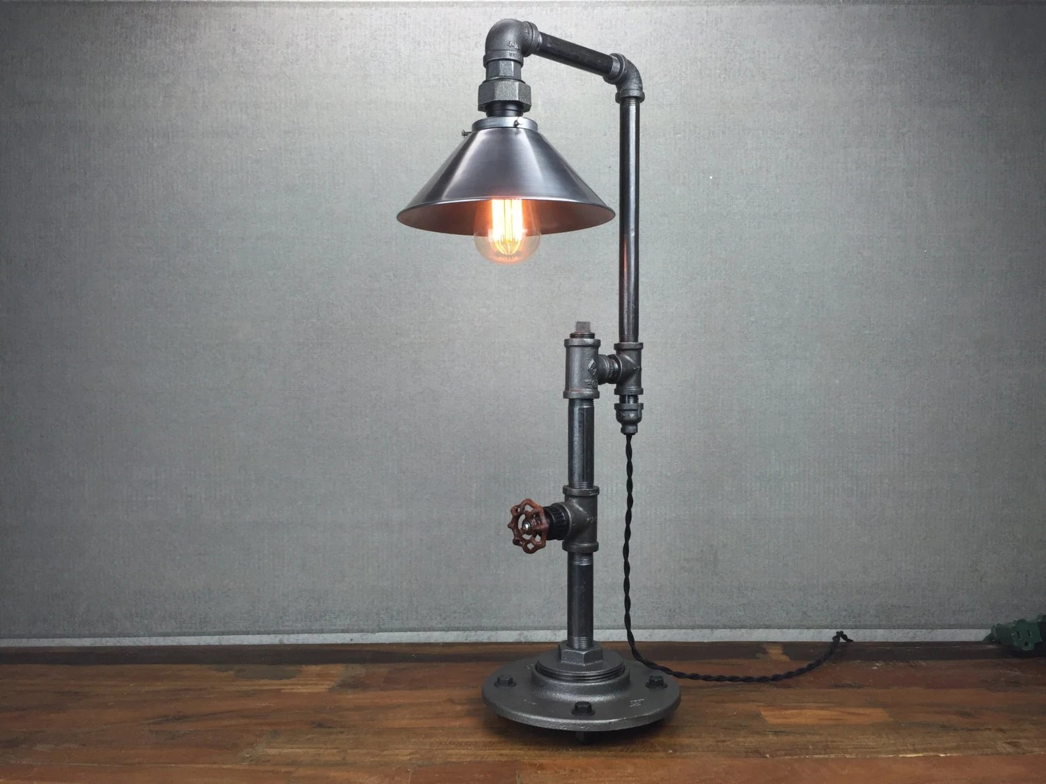 Cool Industrial Lamps Metal Shade Table Lamp Industrial Furniture Edison Bulb