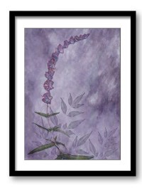 Purple Lavender Flower Bathroom Art Print Modern Elegant