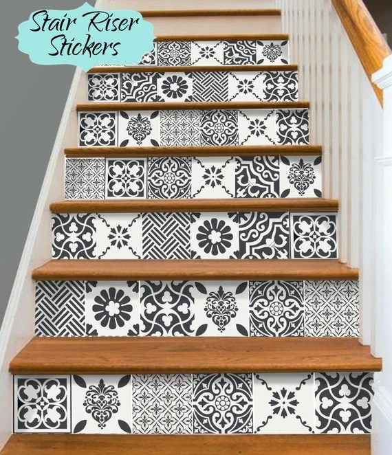 Papier Autocollant Pour Meuble Stair Riser Vinyl Strips Removable Sticker Peel & Stick For 15