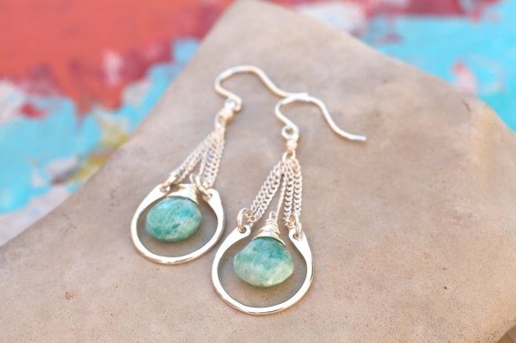 mother's day gifts, Amazonite earrings from Etsy