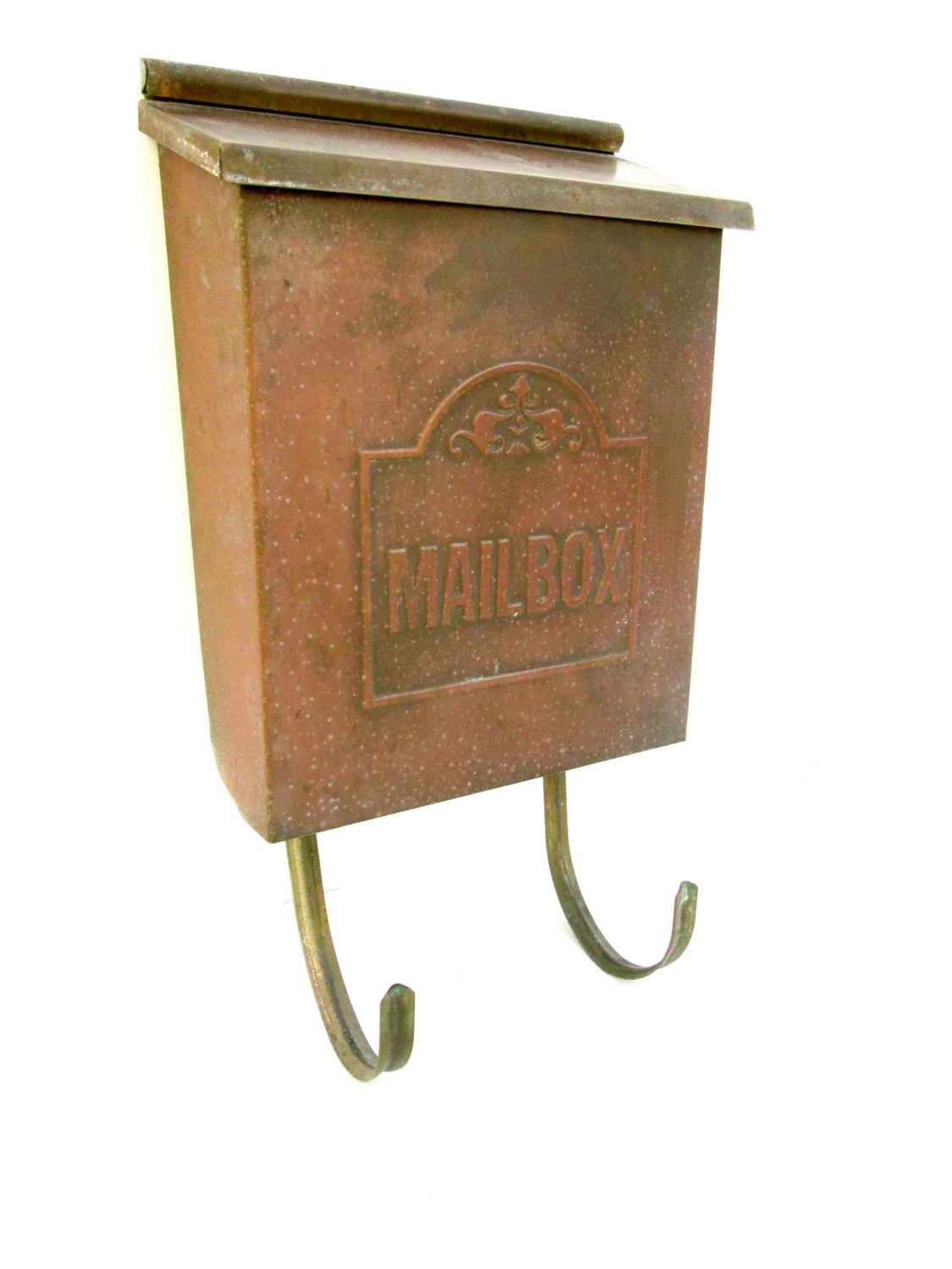 Copper Mailbox Patina Vintage Copper Wall Mount Mailbox Patina Brass Rustic