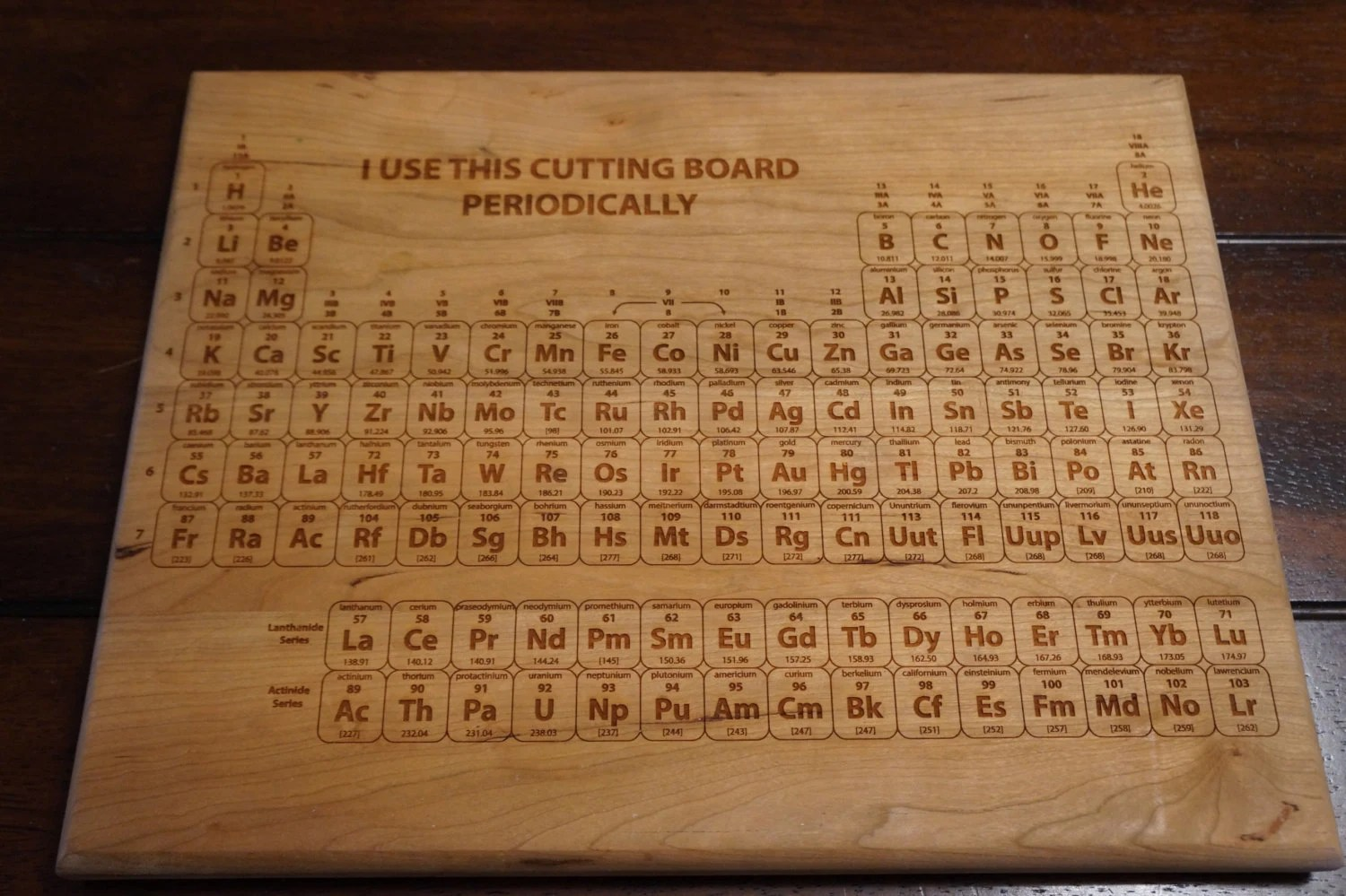 I Use This Cutting Board Periodically Cutting Board Periodic Table Cutting Board