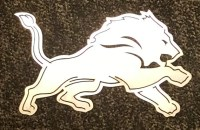 Detroit Lions Metal Wall Art Sign by PerfectCutMetal on Etsy