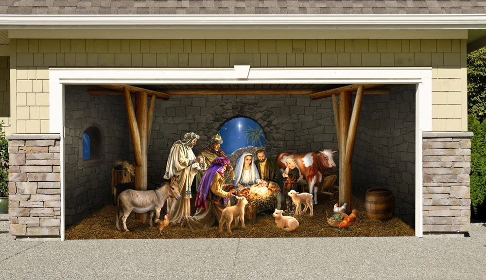 Items similar to Outdoor Decoration Nativity Scene Garage