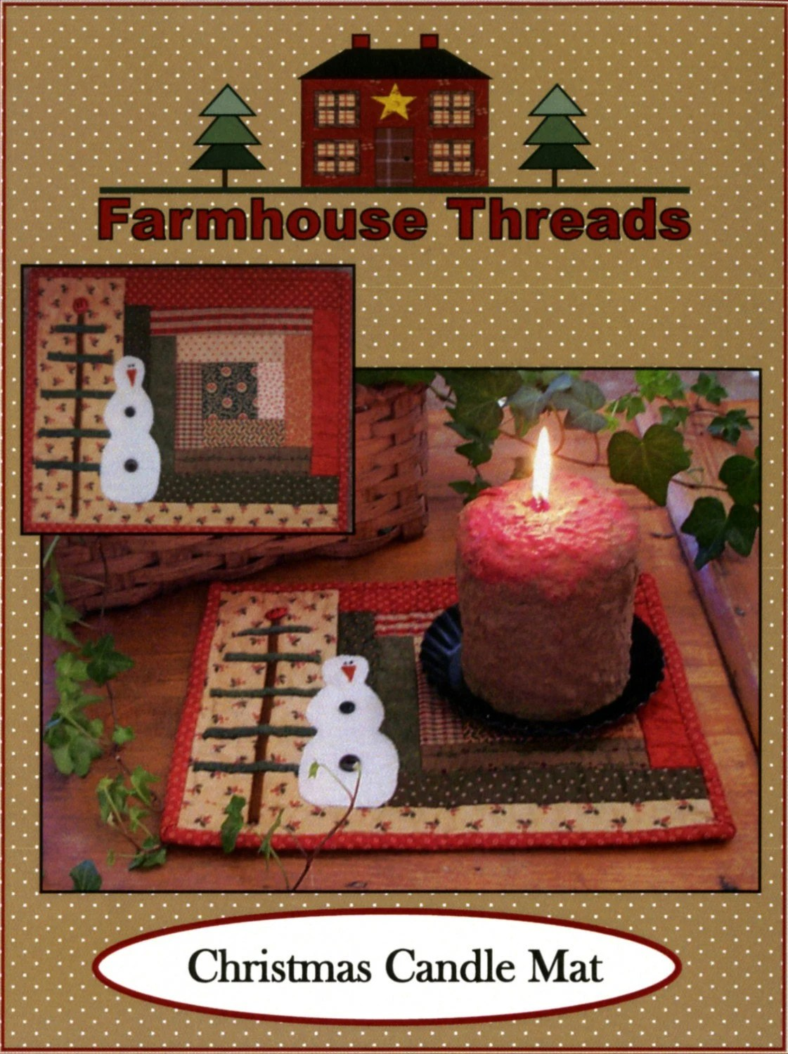 Farmhouse Threads Christmas Candle Mat From Farmhouse Threads Christmas Decor