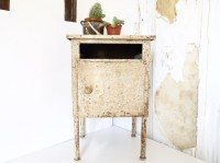 RESERVED FOR EMILY French mid century metal side table night