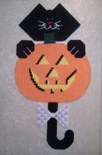 Halloween Black Cat Door Hanging / Pumpkin Door Decoration/