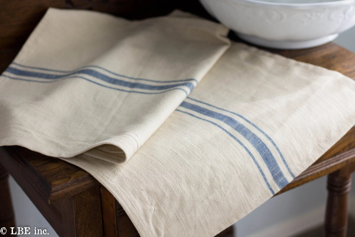 Farmhouse Style Table Runners Farmhouse Table Runner Blue And Cream Approx 34 X 16 Inches