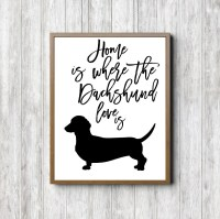 Dachshund Silhouette Wall Art Dog Quote Printable Wall Decor