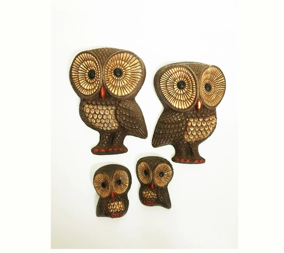 Owl Home Decor Accessories Vintage Owl Wall Plaques Owl Wall Decor Decorative Owls
