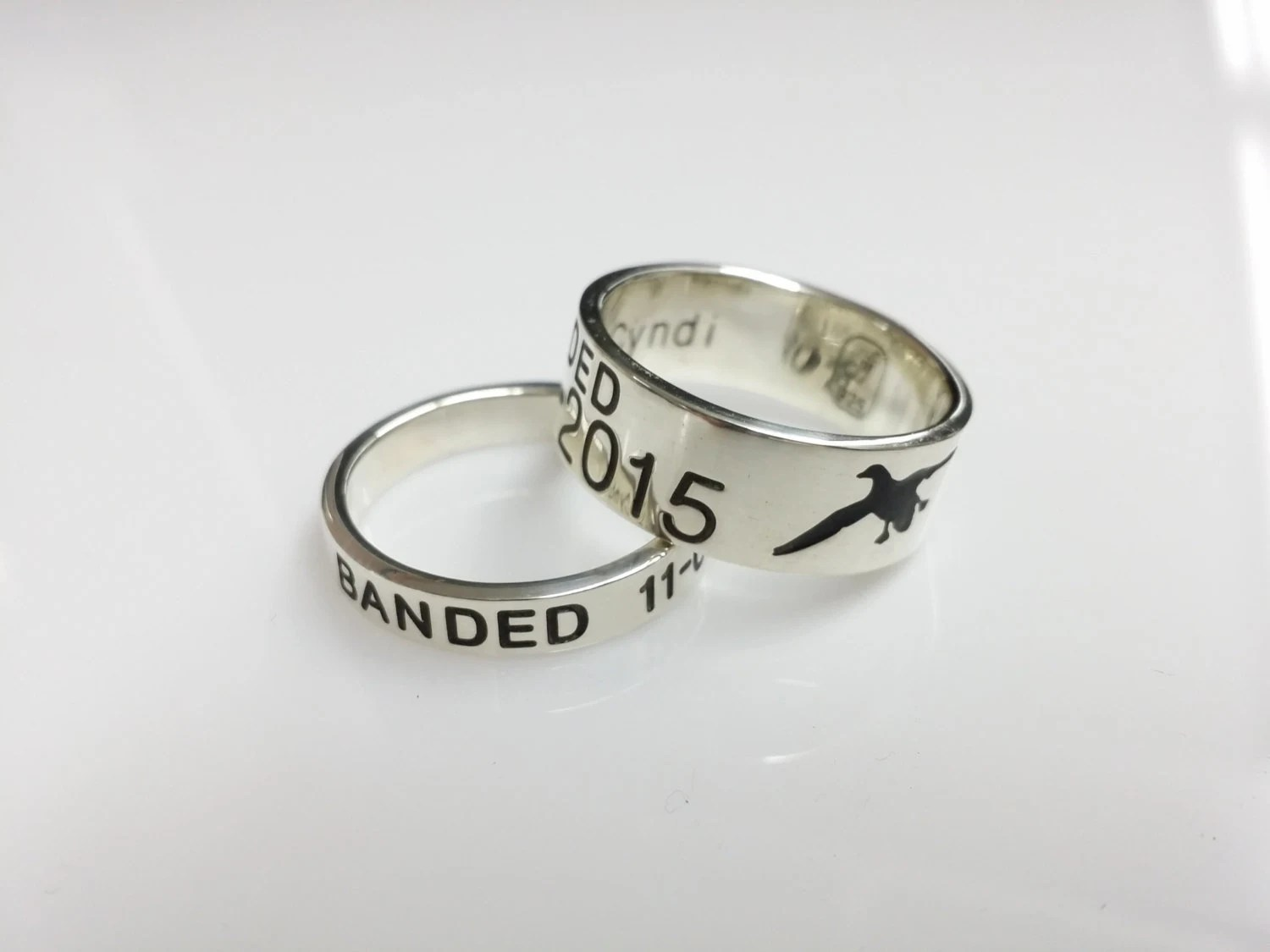 wedding duck band wedding ring Solid Sterling Silver Duck Band Free priority shipping in the USA