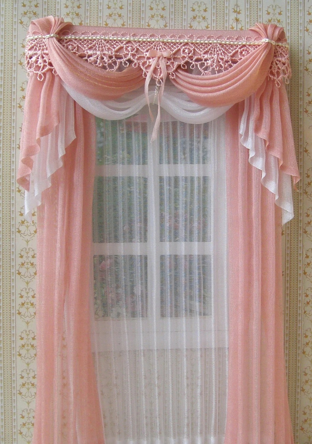 Cortinas Para Dormitorios De Niñas Miniature 1 12 Dollhouse Curtains To Order