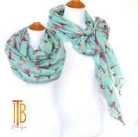 Mint Green Infinity Scarf Gifts for Her Summer Scarf