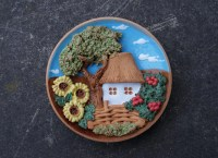 Ceramic decorative plate Country wall decor Rustic by ...
