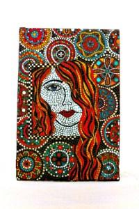 Stained Glass Mosaic Mural/ Women Art/ Wall Hanging/ Glass Art