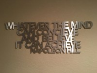 Napoleon Hill Metal Wall Art Quote Think and by INSPIREMEtals