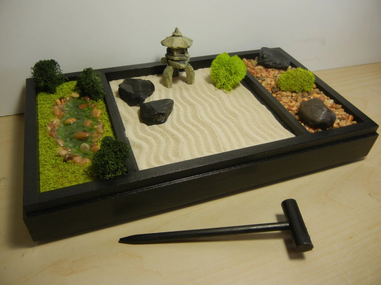 Office Zen Garden 3 In 1 Medium Zen Garden Includes Sand Raking Landscape