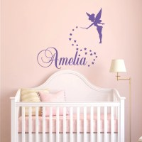 Girls Name Wall Decal Fairy Wall Decal Personalized Name