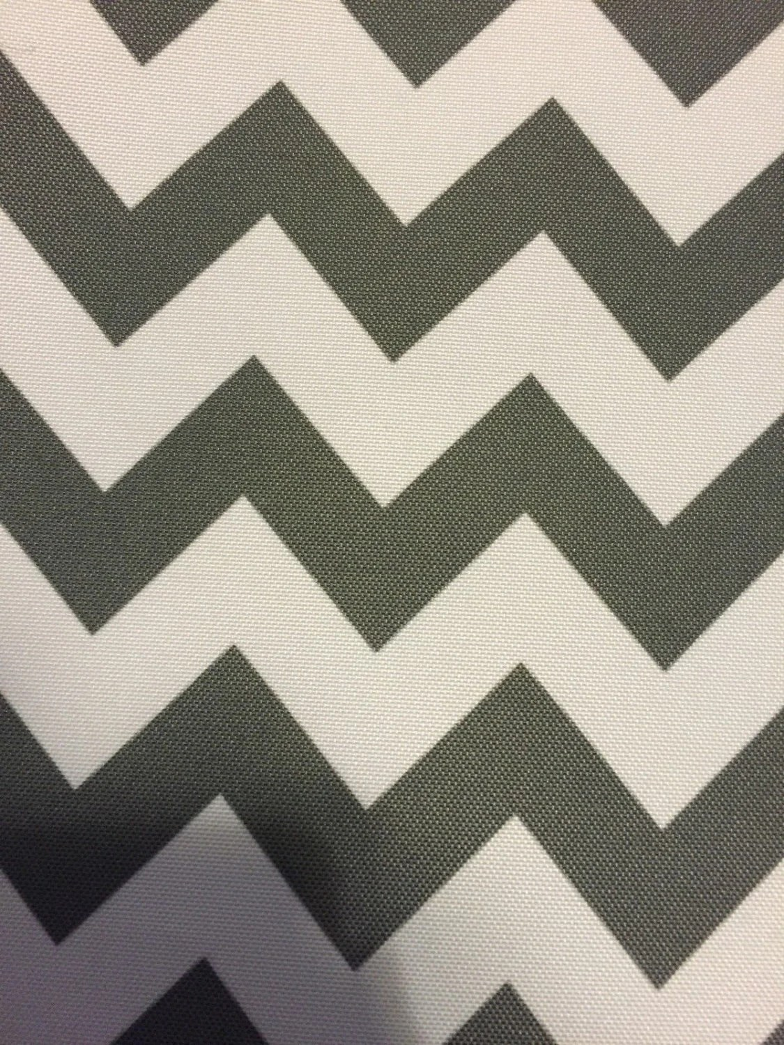 Outdoor Curtain Fabric By The Yard Gray White Chevron Indoor Outdoor Upholstery Drapery Fabric Sold