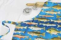 Fish Adult Apron bright blue