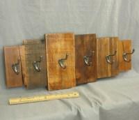 wooden coat rack rustic wall art reclaimed wood cabin decor