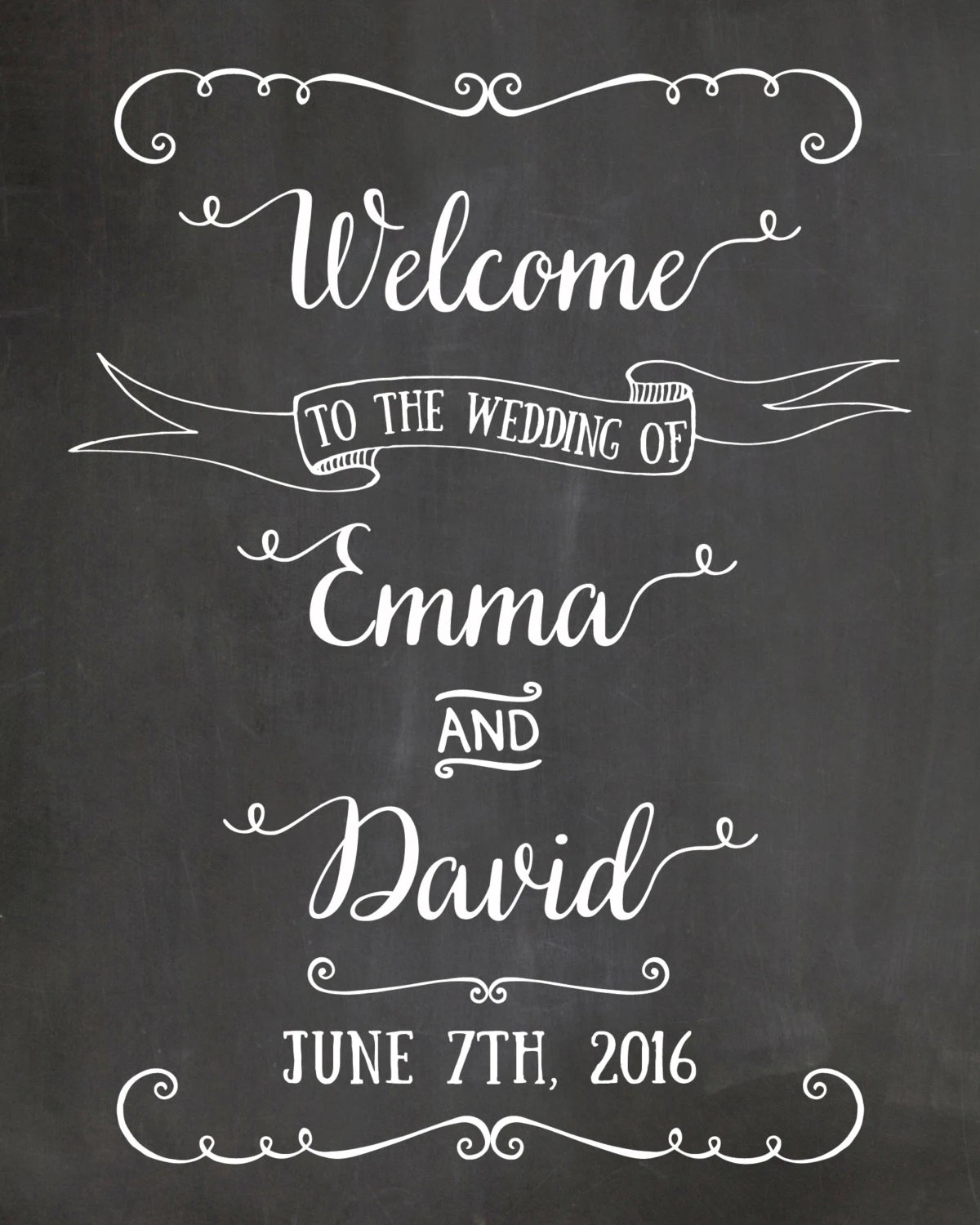 20 OFF coupon on Welcome Wedding Sign Chalkboard Welcome sign