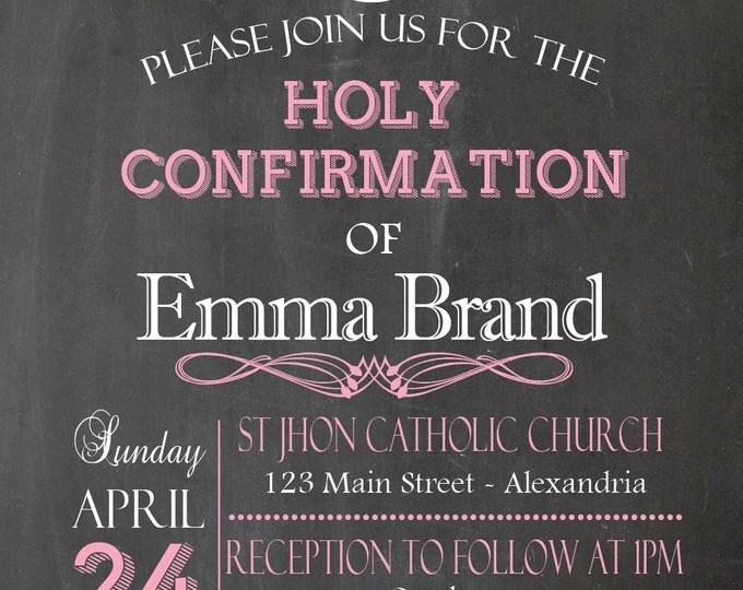 20 OFF coupon on Chalkboard invitation Confirmation Invitation