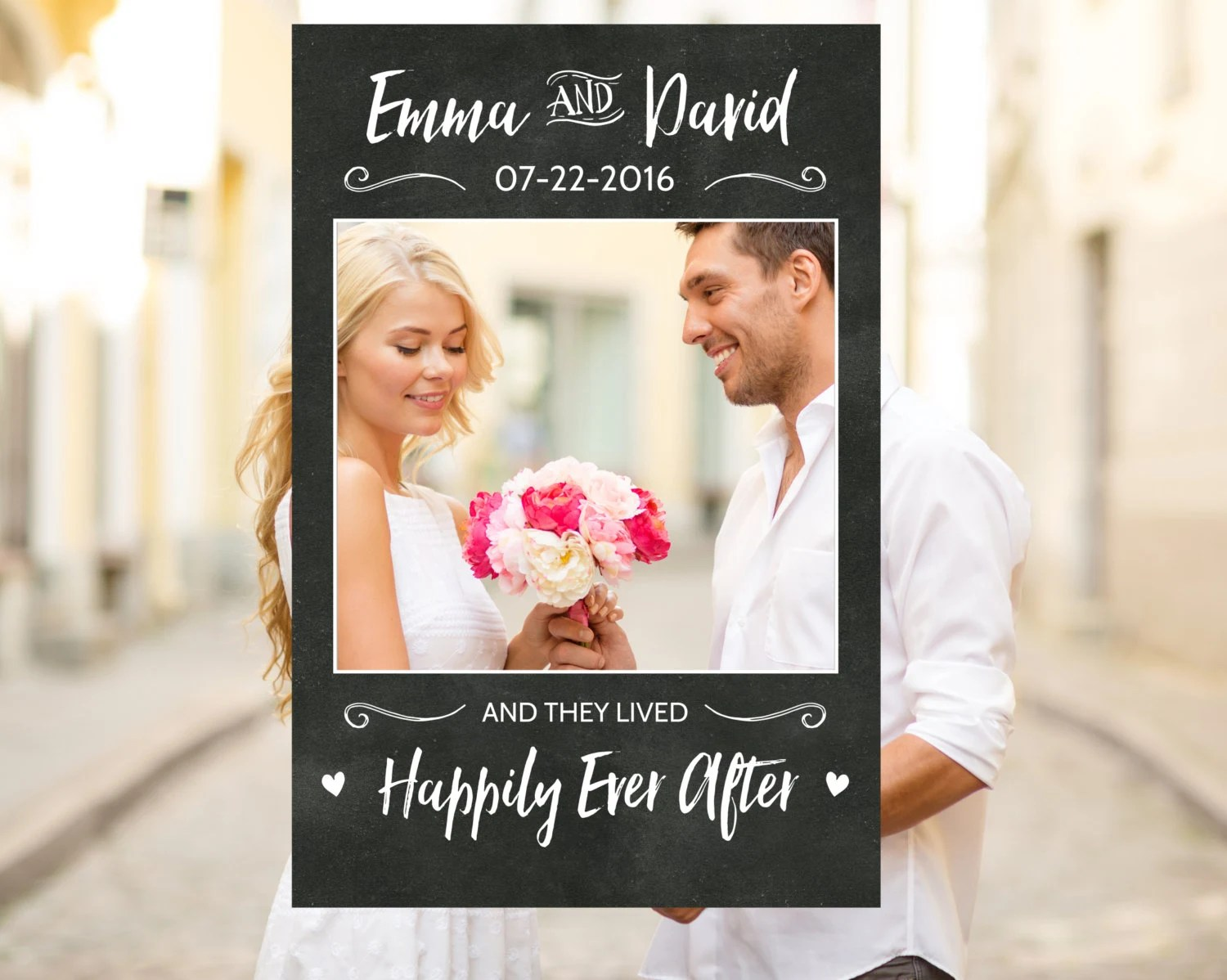 Cornici Photo Booth Fai Da Te Chalkboard Wedding Photo Booth Frame Wedding Photo Prop Rustic