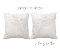 Angel wing pillow | Etsy