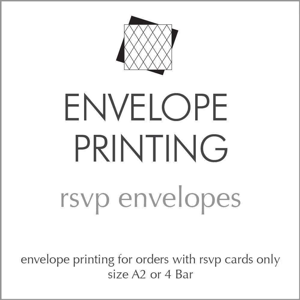 Envelope Printing for RSVP and Response Cards *Add-On* by Design