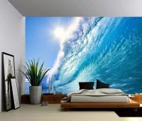 Ocean Wave Large Wall Mural Self-adhesive Vinyl Wallpaper